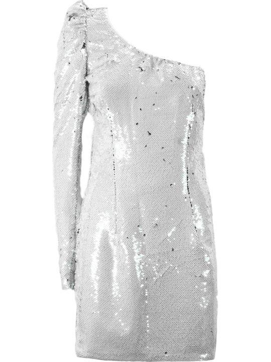 Amen Silver-tone Off Shoulder Sequin Dress