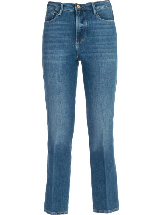Frame Jeans Slim Cropped High Waist
