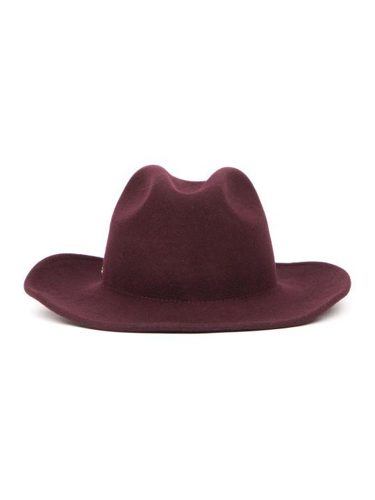 Coccinelle Plum Bridget Wool Hat