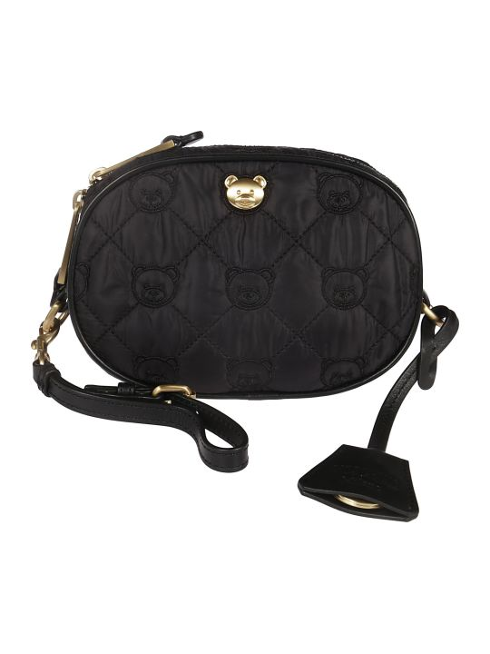 Moschino Embroidered Bear Shoulder Bag