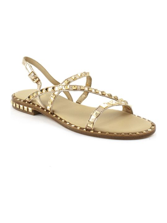 Ash Coppery Leather Sandals