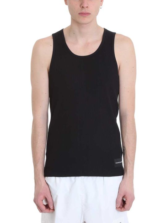 Calvin Klein Jeans Black Cotton Tank Top