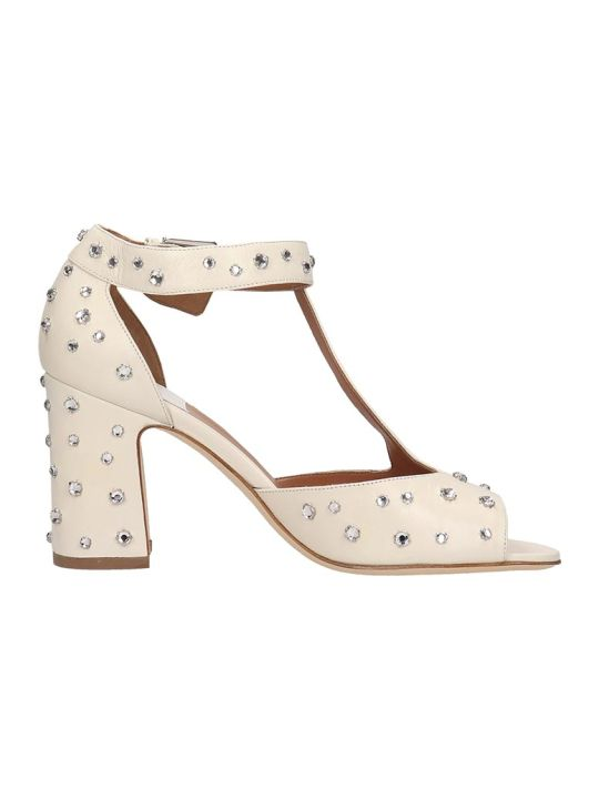 Laurence Dacade Beige Leather Tonina Sandals