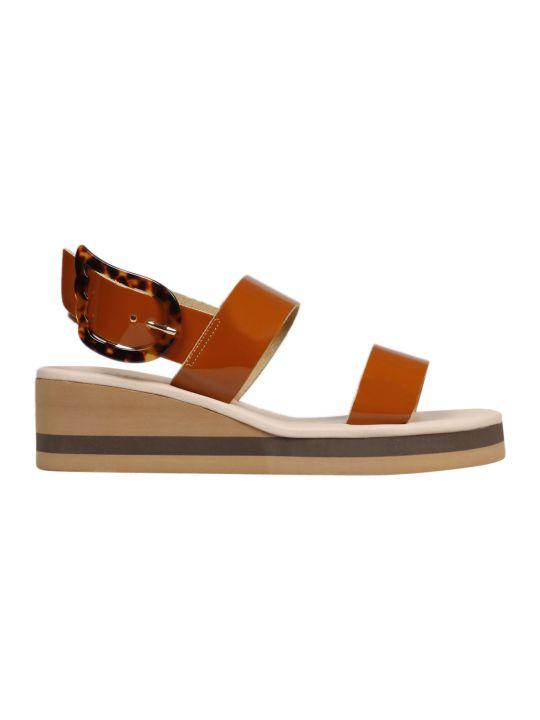 Ancient Greek Sandals Clio Rainbow Patent Sandals