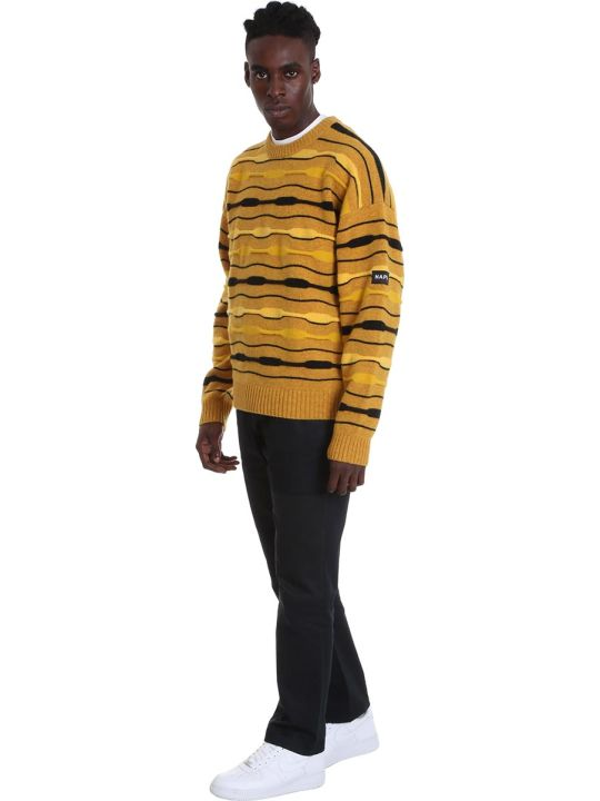 Napa By Martine Rose D-caracal Knitwear In Yellow Wool