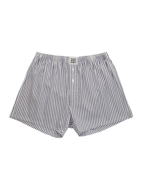 MSGM Logo Print Cotton Trunks