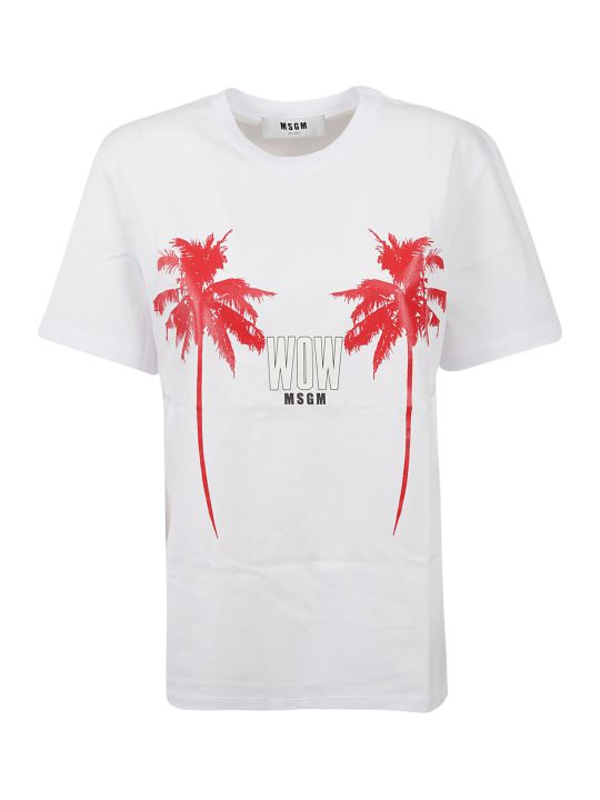 MSGM Palm Trees T-shirt