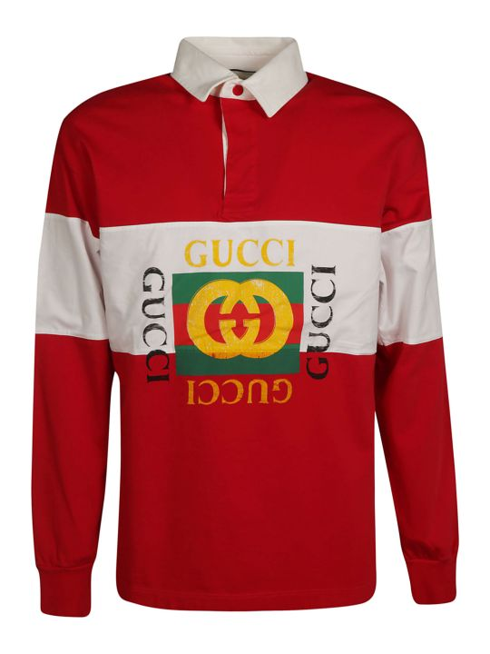 Gucci Logo Print Polo Shirt