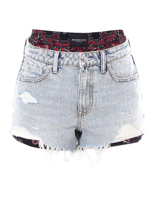 Alexander Wang Bite Mix-pebble Bleach Shorts