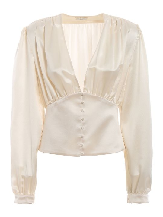 Saint Laurent Draped Blouse