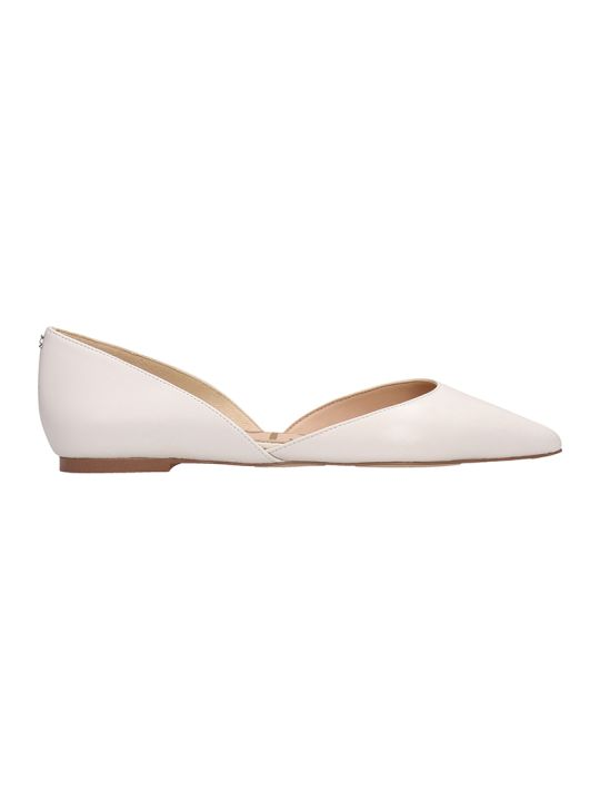 Sam Edelman White Leather Rodney Ballarines
