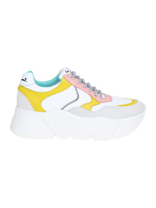 Voile Blanche Voile Banks Sneakers Creep In Leather And Tulle