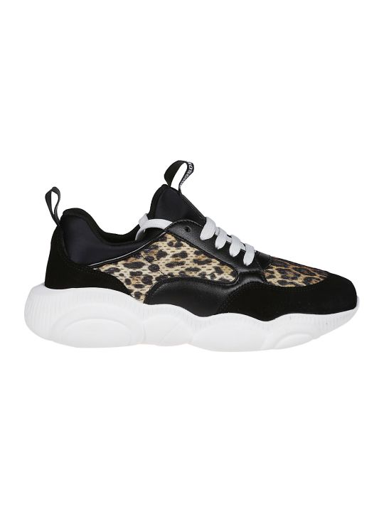 Moschino Leopard Print Sneakers