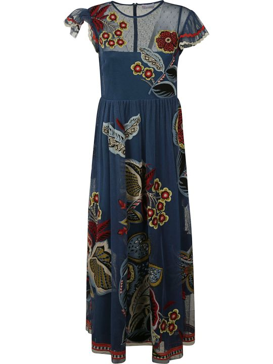 RED Valentino Long Printed Dress