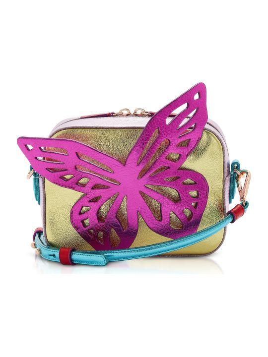 Sophia Webster Multi Metallic Flossy Butterfly Camera Bag