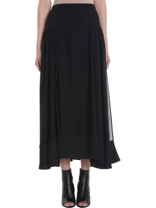 3.1 Phillip Lim Black Silk Long Skirt