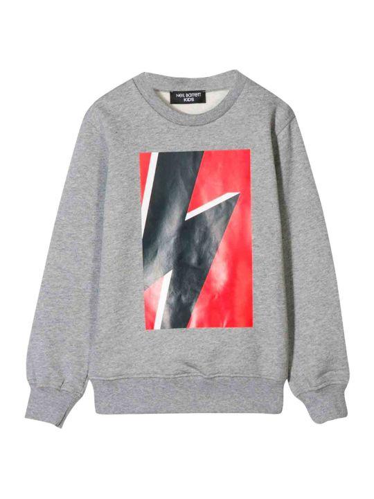 Neil Barrett Neil Barrett Gray Kids Teen Sweatshirt