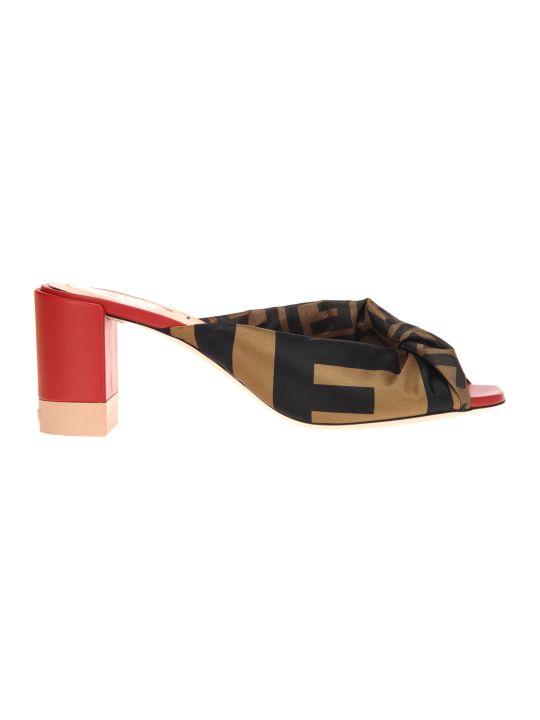 Fendi Sandal Mule Leather Fabbric