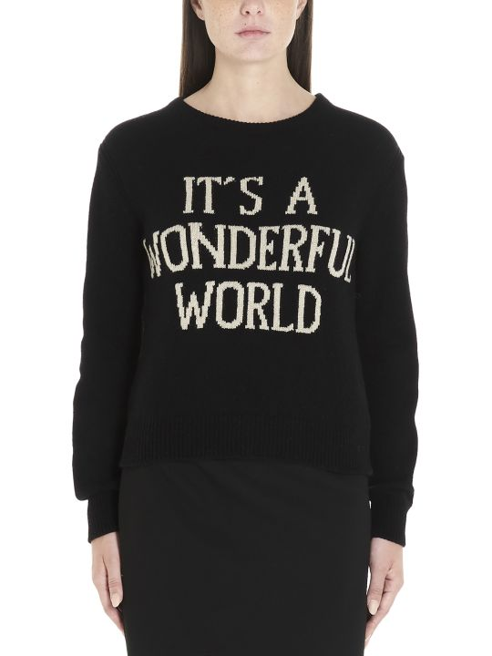 Alberta Ferretti 'it's A Wonderful World' Sweater