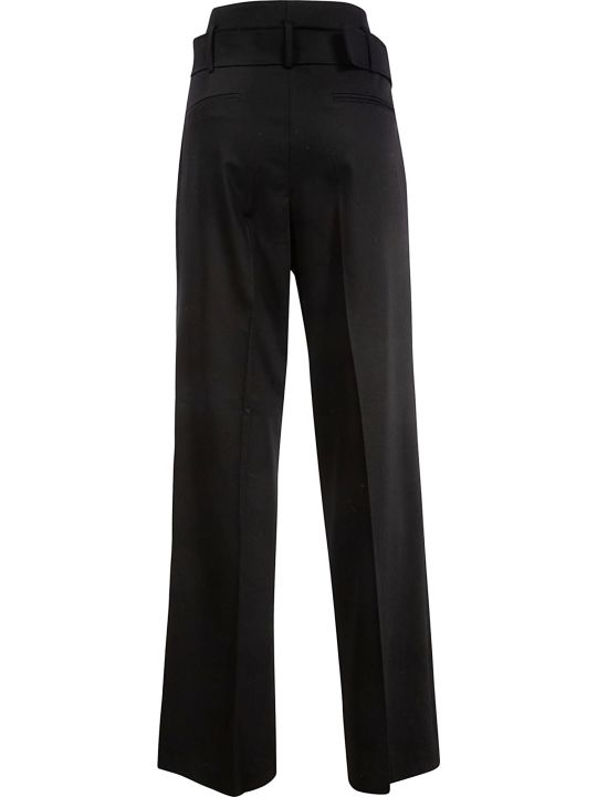 Les Coyotes De Paris Belted Waist Long Trousers