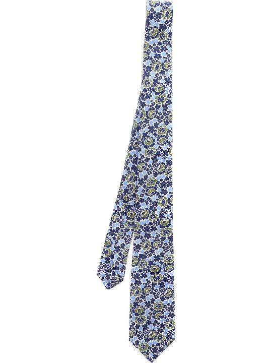 Luigi Borrelli Floral Print Neck Tie