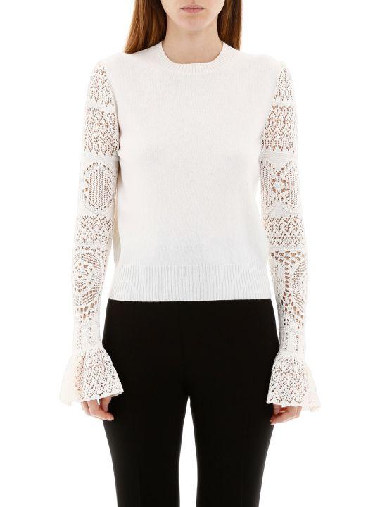 Alexander McQueen Pullover With Crochet Sleeves