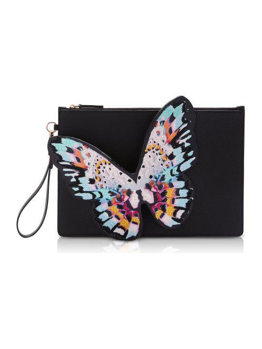 Sophia Webster Black & Multi Flossy Butterfly Pouchette