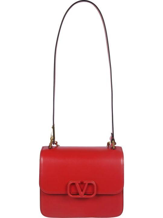 Valentino Logo Plaque Shoulder Bag