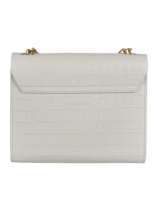 the VOLON Croc-skin Effect Shoulder Bag