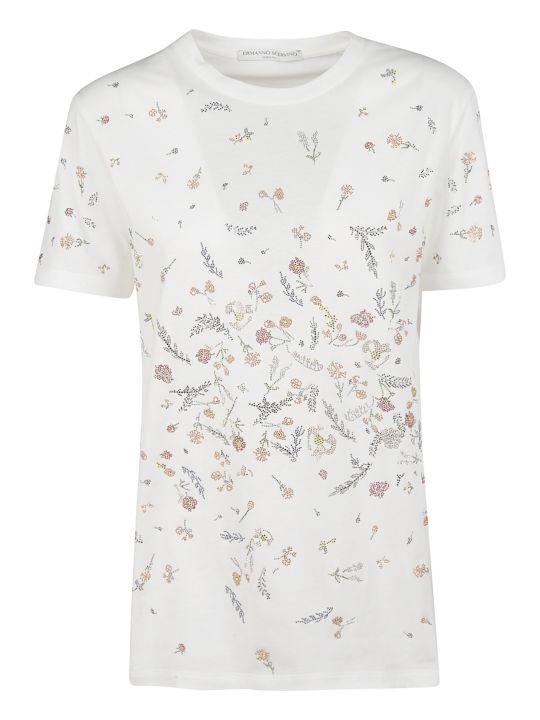 Ermanno Scervino Embellished Floral T-shirt