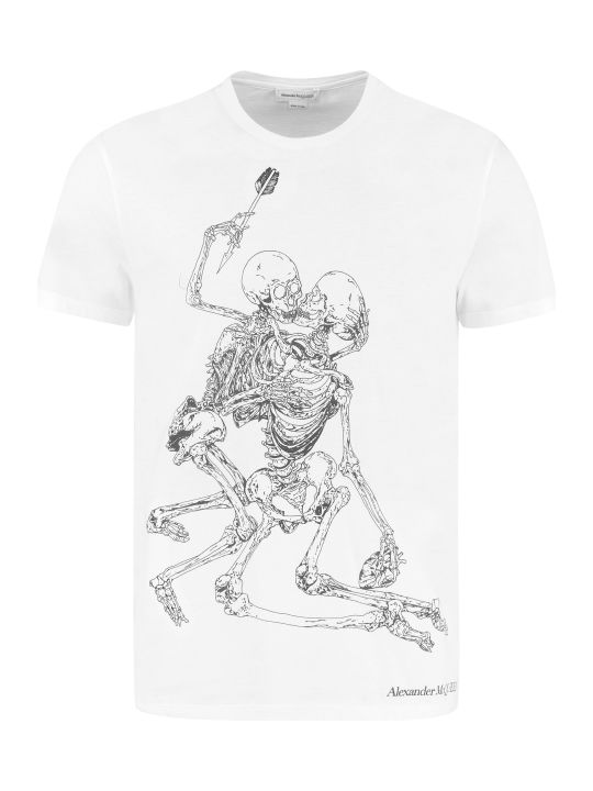 Alexander McQueen Printed Cotton T-shirt