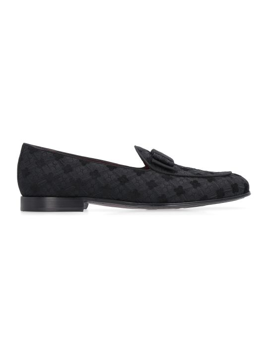 Dolce & Gabbana Brocade Fabric Loafers