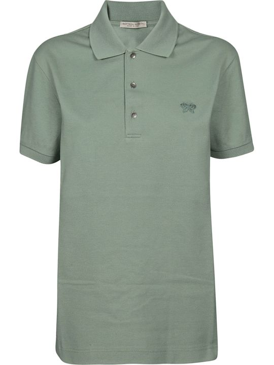 Bottega Veneta Logo Embroidered Polo Shirt