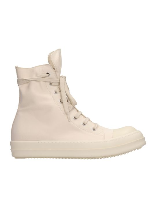 DRKSHDW Ramones Beige Nylon And Canvas Sneakers