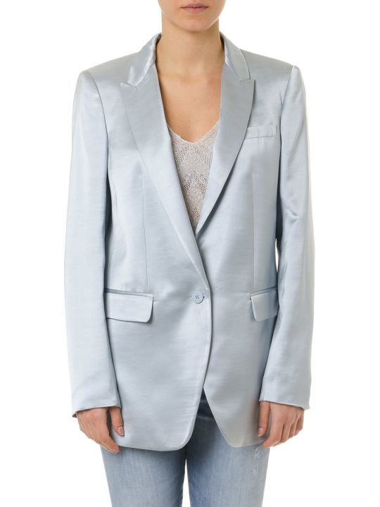 Dondup Shiny Sky Blue Single Breast Jacket