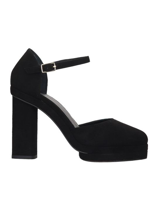 Castañer Charlotte  Sandals In Black Suede