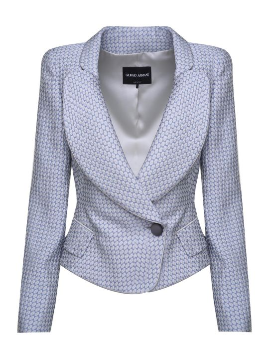 Giorgio Armani Double-breasted Jaquard Jacket