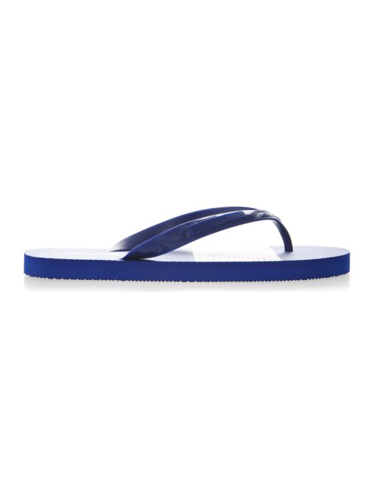 Emporio Armani Blue Rubber Sandals