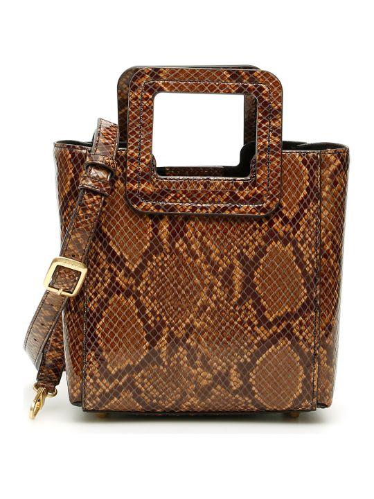 STAUD Python-print Shirley Mini Bag