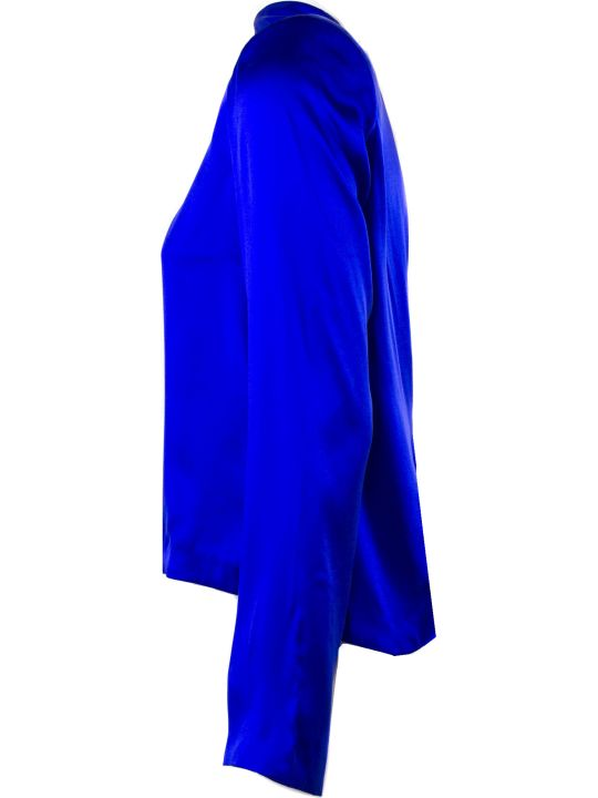RTA Cobalt Blue Silk Blouse