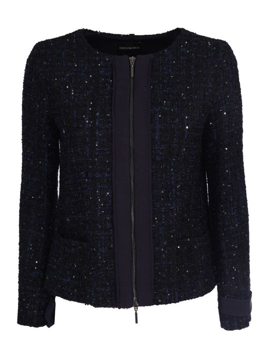 Emporio Armani elegant jacket, blue,