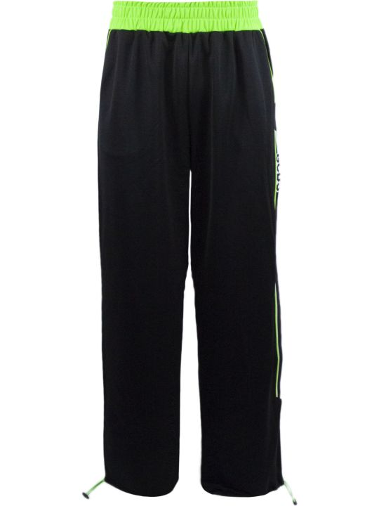 GCDS Black And Green Track Pants