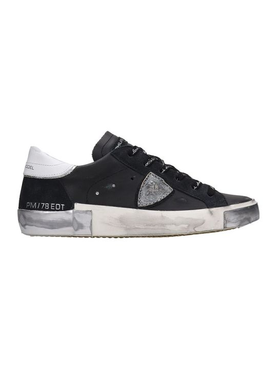 Philippe Model Prsx L Sneakers In Black Leather