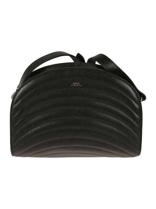 A.P.C. Sac Demi Quilted Shoulder Bag