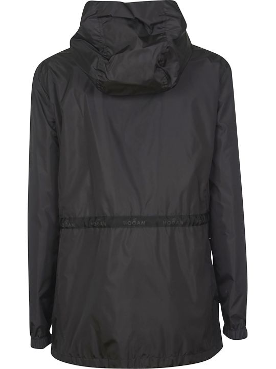 Hogan Zip Hooded Raincoat