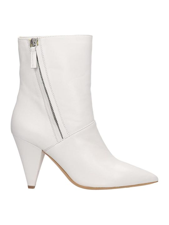 The Seller Ankle Boots In White Leather