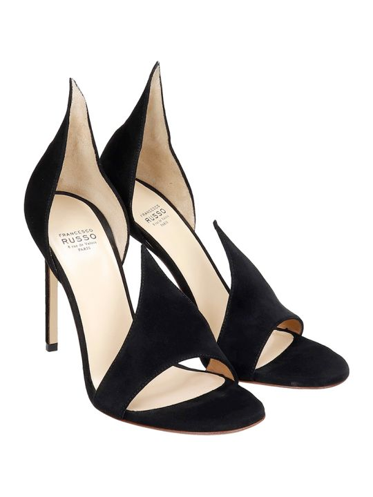 Francesco Russo Sandals In Black Suede