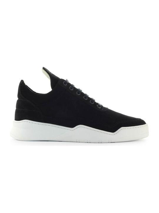 Filling Pieces Black Suede Sneaker