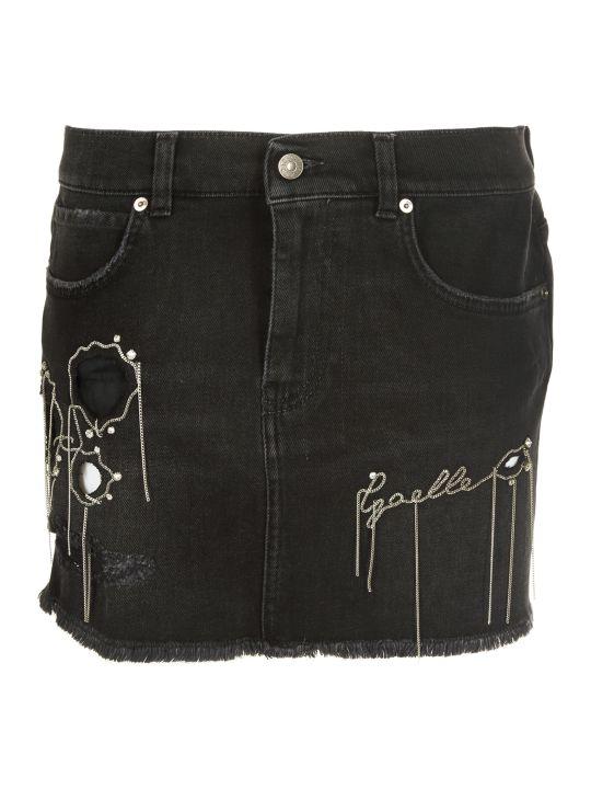 Gaelle Bonheur Chain Logo Mini Skirt