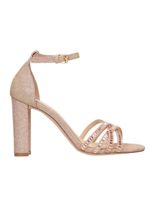 Bibi Lou Copper Fabric Sandals